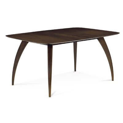 Donta Rectangular Dining Table Finish: Walnut, Table Top: Strata Top