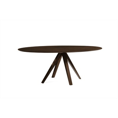 Drake Oval Dining Table Finish: Java, Table Top: Smooth Top, Size: 29 H x 36 - 42 W x 80 D