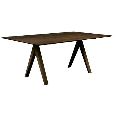 Jermey Rectangular Wood Dining Table Finish: Chocolate, Table Top: Strata Top