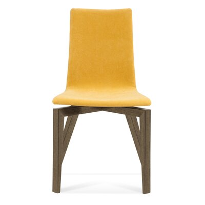 Slip U Parsons Chair Finish: Nantucket, Upholstery: Dove