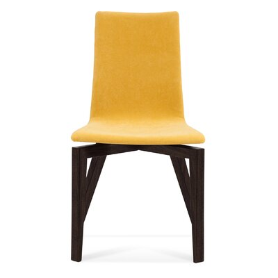 Slip U Parsons Chair Finish: Rockport, Upholstery: Dove