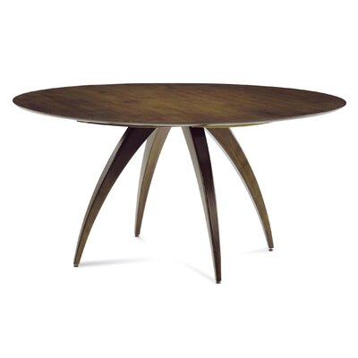 Cade Round Dining Table Finish: Walnut, Table Top: Strata Top
