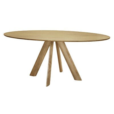 Efren Dining Table Finish: Natural, Size: 29 H x 36 W x 70 D
