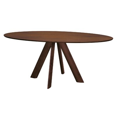 Eden 80 Dining Table Finish: Walnut, Size: 29 H x 42 W x 80 D