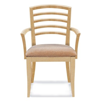 Sofian Arm Chair in Flannel Color: Natural
