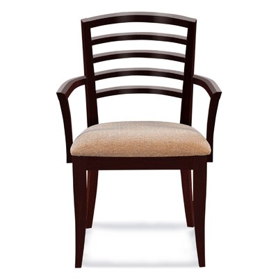 Sofian Upholstered Wood Dining Chair Finish: Java