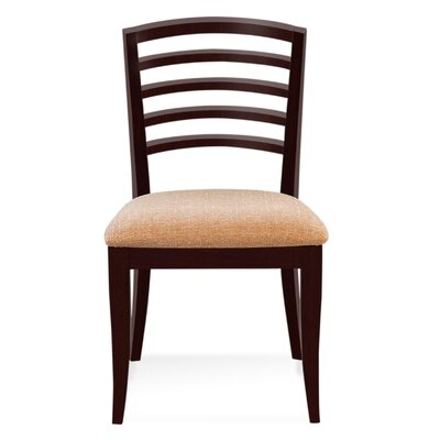 Sofian Wood Side Chair in Chambray Color: Java