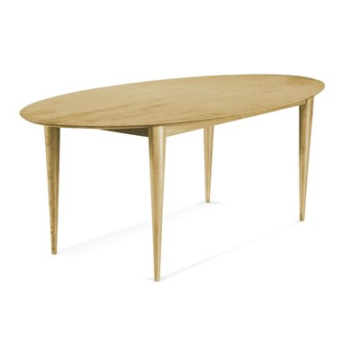 Tylor Cona Ellipse Dining Table Finish: Natural, Size: 29 H x 42 W x 80 D