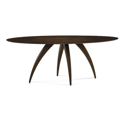 Cade Oval Dining Table Finish: Chocolate, Table Top: Strata Top