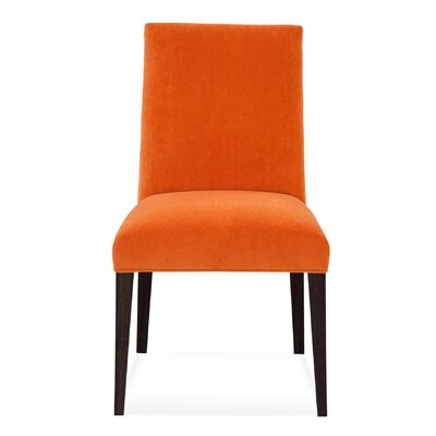 Eamon Parsons Chair Finish: Rockport, Upholstery: Raisin