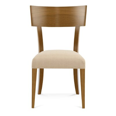 Sofian Side Chair in Sunbrella Spectrum Dove Color: Flax