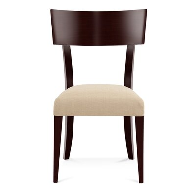 Sofian Wood Side Chair in Linen Color: Java