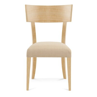 Sofian Wood Side Chair in Linen Color: Natural
