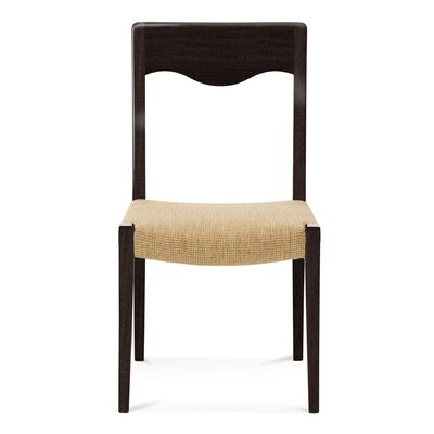 Alessandra Side Chair Upholstery: Straw, Finish: Rockport
