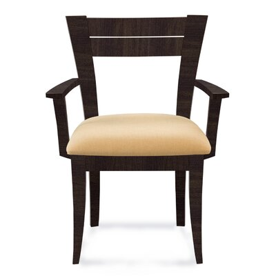 Bence Arm Chair Finish: Rockport, Upholstery: Linen