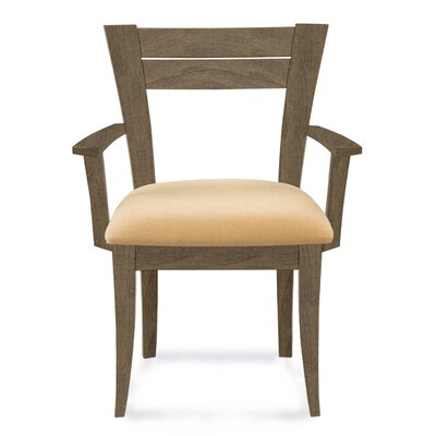Bence Arm Chair Finish: Nantucket, Upholstery: Linen