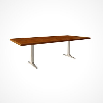 Apollo Dining Table Size: 29 inch H x 42 inch W x 80 inch D, Top Finish: Harvest
