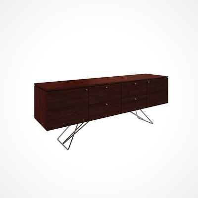 Imani Solid Wood Buffet Table Color: Java