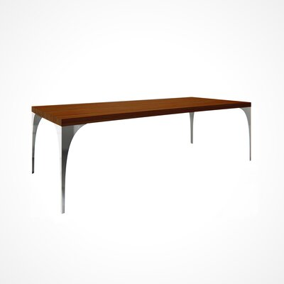 Neema Wood Top Dining Table Top Finish: Harvest, Size: 29.5 H x 42 W x 80 D