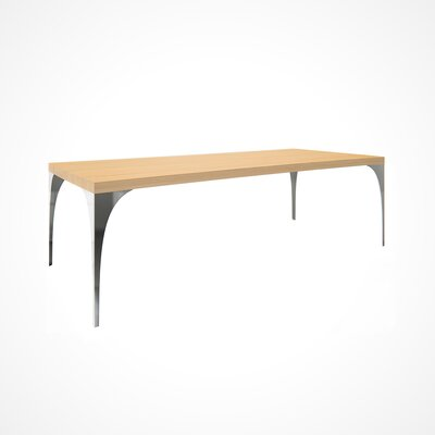Neema Wood Top Dining Table Top Finish: Natural, Size: 29.5 H x 42 W x 80 D
