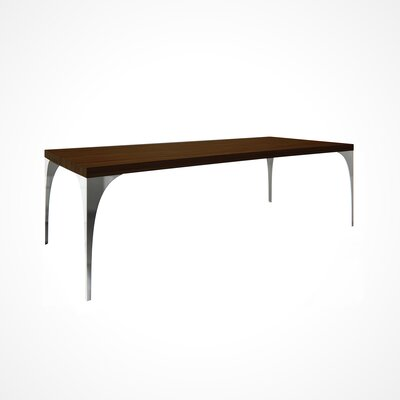Neema Wood Top Dining Table Top Finish: Aurora, Size: 29.5 H x 42 W x 96 D