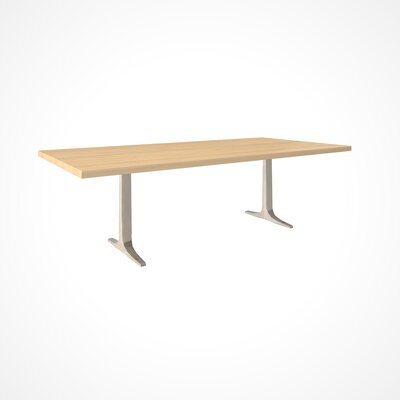 Apollo Dining Table Size: 29 inch H x 42 inch W x 80 inch D, Top Finish: Natural