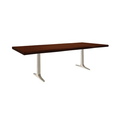 Apollo Dining Table Size: 29 inch H x 42 inch W x 80 inch D, Top Finish: Java