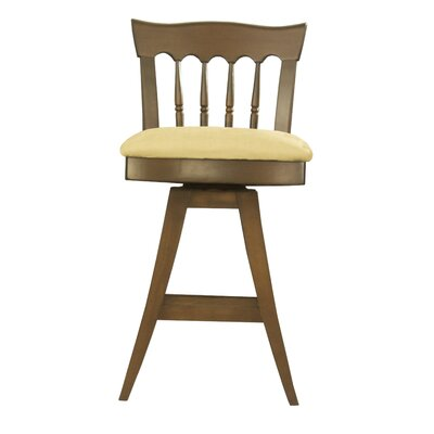 Ines 26 Swivel Wood Bar Stool