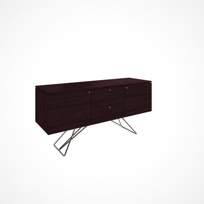 Imani 2 Door and 2 Drawer Buffet Table Color: Chocolate
