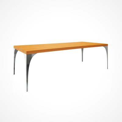 Neema Wood Top Dining Table Top Finish: Flax, Size: 29.5 H x 42 W x 80 D