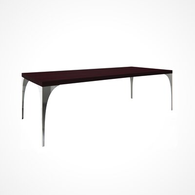 Neema Wood Top Dining Table Top Finish: Chocolate, Size: 29.5 H x 42 W x 80 D
