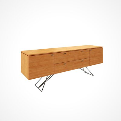 Imani Solid Wood Buffet Table Color: Flax