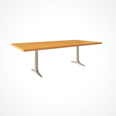 Darbonne Wood Top Dining Table Top Finish: Flax, Size: 29 H x 42 W x 80 D