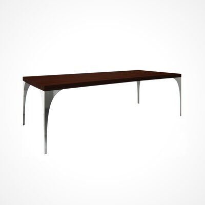 Neema Wood Top Dining Table Top Finish: Java, Size: 29.5 H x 42 W x 80 D