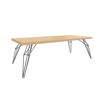 Gettys Rectangular Dining Table Top Finish: Natural, Size: 29.5 H x 42 W x 80 D