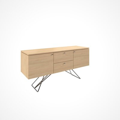 Imani 2 Door and 2 Drawer Buffet Table Color: Natural