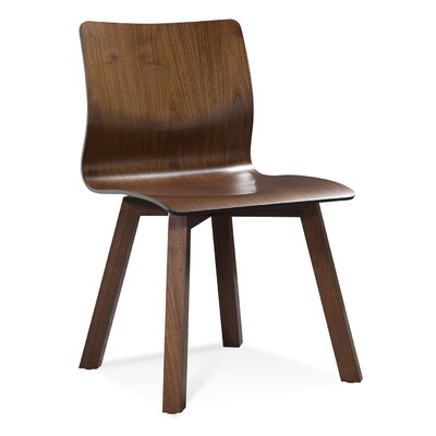 Nicholaus Solid Wood Dining Chair Finish: Java