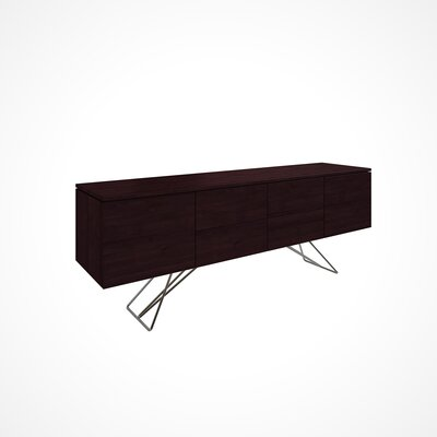 Imani 2 Drawer Buffet Table Color: Chocolate
