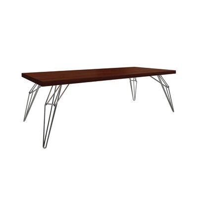 Gettys Rectangular Dining Table Top Finish: Java, Size: 29.5 H x 42 W x 80 D