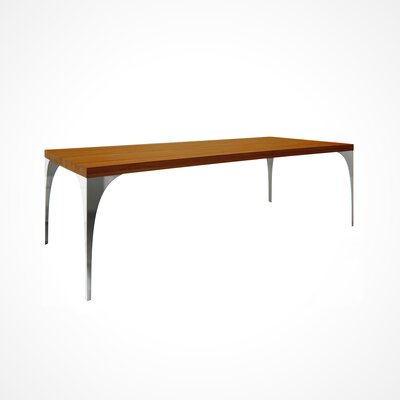 Neema Wood Top Dining Table Top Finish: Walnut, Size: 29.5 H x 42 W x 96 D