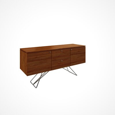 Imani 2 Door and 2 Drawer Buffet Table Color: Walnut