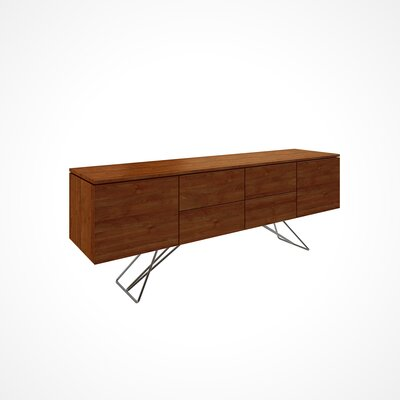 Imani 2 Drawer Buffet Table Color: Walnut