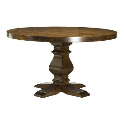 Gaspard Maple Dining Table Color: Distressed Walnut, Size: 29.75 H x 54 W x 54 D