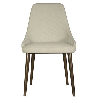 Belmonte 120 Upholstered Dining Chair Upholstery Color: Oatmeal, Finish: Java