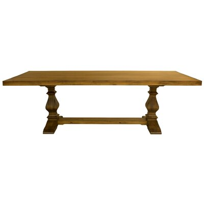 Baldu�no Maple Extendable Dining Table Color: Distressed Walnut, Size: 29.75 H x 112 W x 42 D