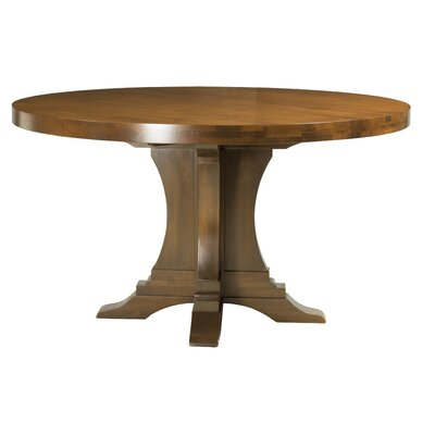 Geneve Maple Extendable Dining Table Color: Distressed Walnut, Size: 29.75 H x 74 W x 74 D