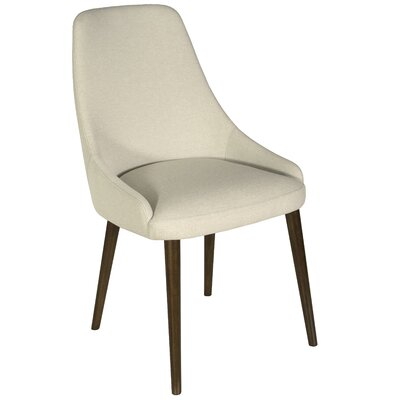 Belmonte 120 Upholstered Dining Chair Upholstery Color: Espresso, Leg Color: Flax