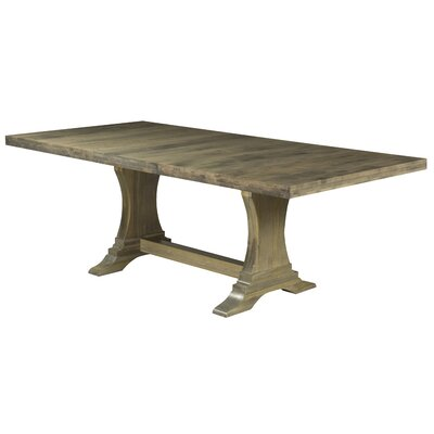 Augusto Maple Dining Table Color: Distressed Nantucket, Size: 29.75 H x 80 W x 42 D