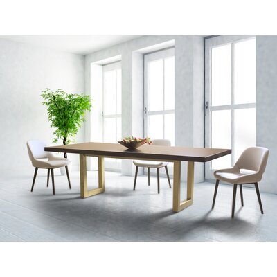 Fusco Maple Straight Edge Dining Table