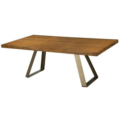 Pressley Maple Straight Edge Dining Table Color: Walnut, Size: 29 H x 96 W x 42 D